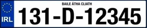 New number plates in the Republic of Ireland contain far too many digits