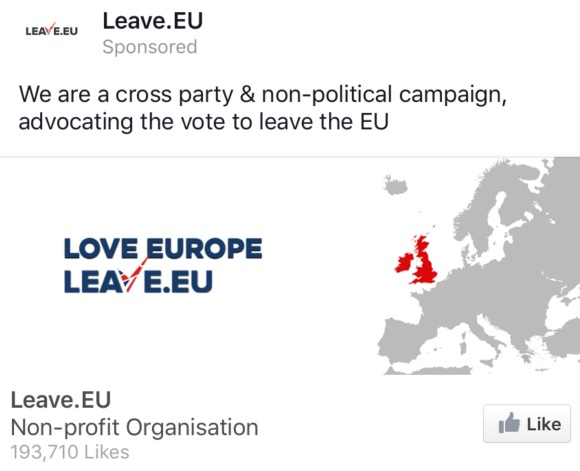 "The ""Leave EU"" campaign is so committed to the UK, that it doesn't even know where its borders are..."
